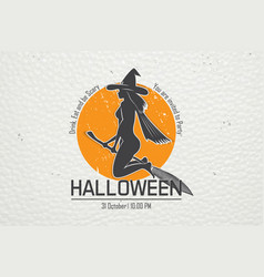 happy halloween invitation to a party of vector image