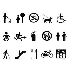 International service symbols vector