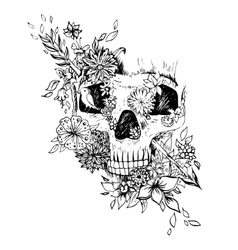 Abstract graphic skull print vector image