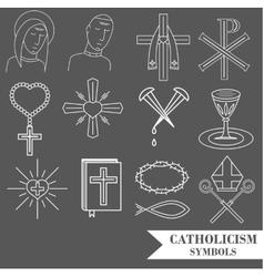 catholic symbols vector image