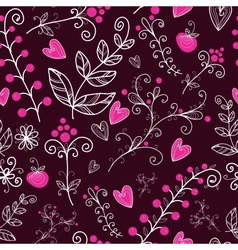 Floral seamless pattern in vector image vector image