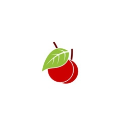 Simple red cherry vector