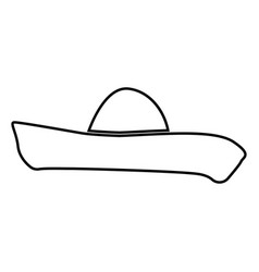 sombrero black color icon vector image