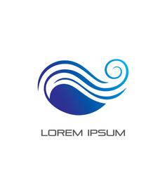 abstract wave ocean logo vector image