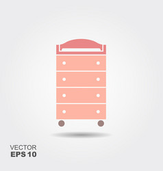 Changing table flat icon vector