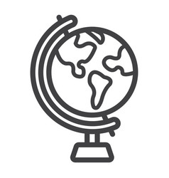 globe line icon world and geography vector image