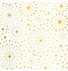 Golden White Abstract Network Metallic vector image vector image