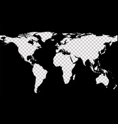 map with imitation of transparent continents vector image