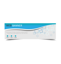 Abstract banner design of header template square b vector