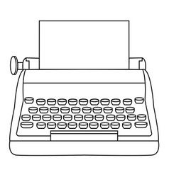 abstract old typewriter vector image