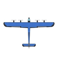 Airplane solar energy vector image