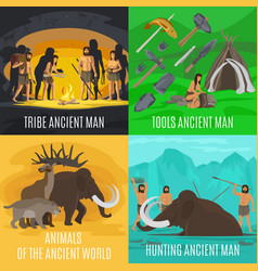 Ancient prehistoric stone age concepts vector