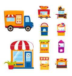 And booth icon set and vector