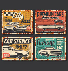 auto repair car garage service rusty plates vector image