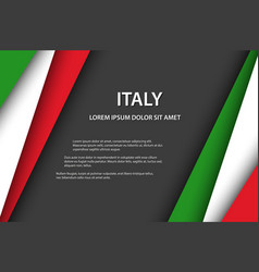 Background with italian colors vector