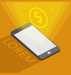 banking online by phone vector image