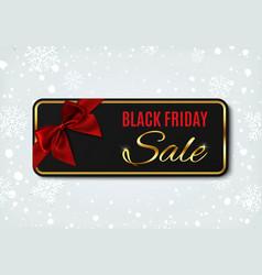 black friday sale banner on winter background vector image