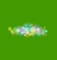 bright colored lights on green background vector image
