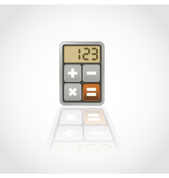 Calculator application icon vector