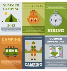 Camping Poster Set vector image