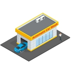 Car wash full automatic 24h service facilities vector