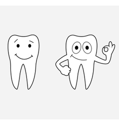 Cartoon teeth vector