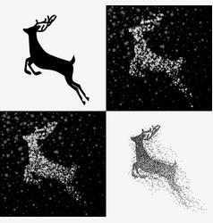 christmas deer set vector image