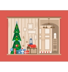 Christmas tree interior vector image