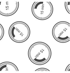 Clock icon indicating time interval 15 vector