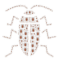 Cockroach icon shape vector