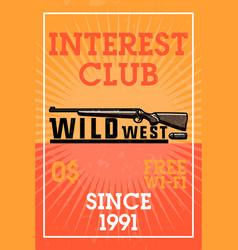 color vintage wild west banner vector image