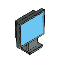 Computer screen 3d vector