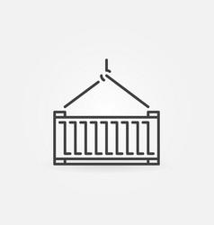 Container concept icon or symbol vector