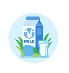 cow milk carton vector image