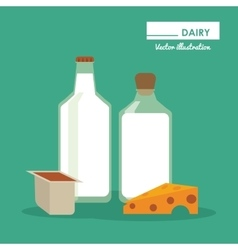 Dairy product icon set Healthy food design vector image