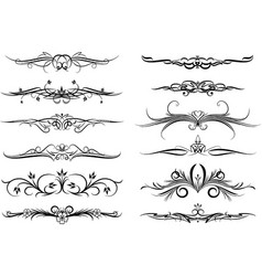 dozen elements for design or tattoo vector image