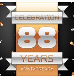 Eighty eight years anniversary celebration golden vector