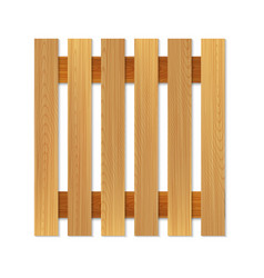 Empty wooden pallet for logistic top view vector