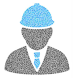engineer mosaic of dots vector image