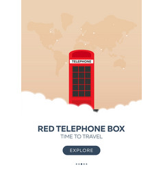 england london red telephone box time to travel vector image