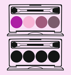 eyeshadow palettes vector image
