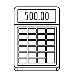 financial calculator icon outline style vector image