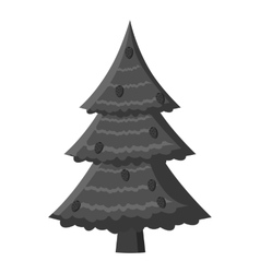 Fir tree icon gray monochrome style vector