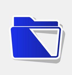 folder sign new year bluish vector image