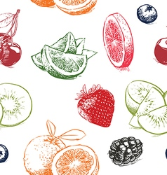 Fruits pattern including seamless vector