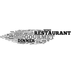 Gourmet word cloud concept vector