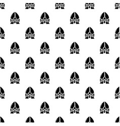 historical knight helmet pattern seamless vector image