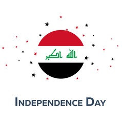 independence day of iraq patriotic banner vector image