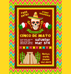 Invitation for mexican cinco de mayo party vector