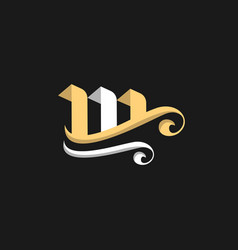 letter m ornate luxury creative business logo vector image